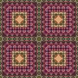 Безшовный цветочный узор, картина маслом Стоковое Изображение