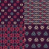 Безшовный цветочный узор, комплект Стоковое Изображение RF