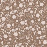Безшовный цветочный узор нарисованный вручную в винтажном стиле бесплатная иллюстрация