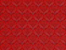 Безшовный цветочный узор на красной предпосылке Стоковая Фотография