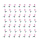 Безшовный цветочный узор на светлой предпосылке Стоковое Изображение RF