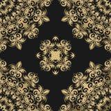 Безшовный цветочный узор на темной предпосылке в векторе вакханические бесплатная иллюстрация