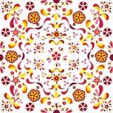 Безшовный цветочный узор от цветков и листьев Стоковое Изображение