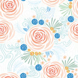 Безшовный цветочный узор, пионы Стоковое фото RF