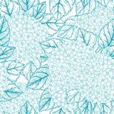 Безшовный цветочный узор с гортензиями Стоковые Фотографии RF