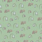 Безшовный цветочный узор с колоколами цветков. Стоковые Изображения