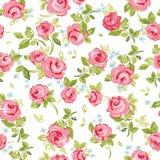 Безшовный цветочный узор с маленькими красными розами, иллюстрация вектора Иллюстрация штока
