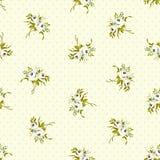 Безшовный цветочный узор с маленькими белыми розами стоковые изображения