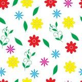 Безшовный цветочный узор с небольшими пестроткаными цветками иллюстрация вектора