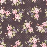 Безшовный цветочный узор с розовыми розами Стоковое Изображение RF