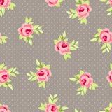 Безшовный цветочный узор с розовыми розами Стоковое Изображение