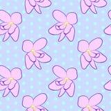 Безшовный цветочный узор с розовыми фиолетовыми цветками Стоковое Фото