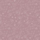 Безшовный цветочный узор с с нарисованным вручную Стоковые Изображения RF