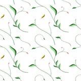 Безшовный цветочный узор с элегантными стилизованными листьями Стоковые Фотографии RF