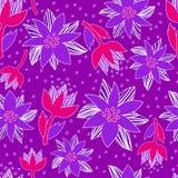 Безшовный цветочный узор Стоковое Фото