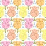 Безшовный цветочный узор Стоковая Фотография