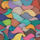 Безшовный цвет развевает абстрактная картина иллюстрация штока