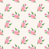 Безшовный штырь завода лист цветка фонового изображения красочный ботанический Стоковая Фотография