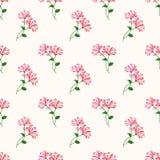 Безшовный штырь завода лист цветка фонового изображения красочный ботанический Стоковое Изображение RF