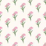 Безшовный штырь завода лист цветка фонового изображения красочный ботанический Стоковая Фотография RF
