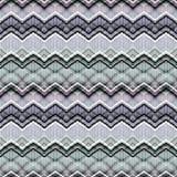 Безшовный этнический зигзаг stripes картина Серая предпосылка Стоковые Изображения RF