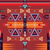Безшовный этнический племенной орнамент картины Стоковые Фотографии RF