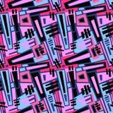 Безшовный brushpen текстура grunge картины doodle ткани Стоковое Изображение