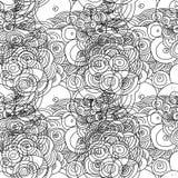 Безшовный doodle объезжает картину Стоковые Изображения RF