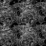 Безшовный doodle объезжает картину Стоковые Фото