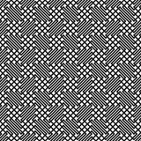 Безшовный monochrome вид решетки зигзага Стоковые Изображения