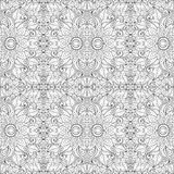 Безшовный Monochrome цветочный узор (вектор) Стоковые Изображения RF