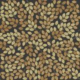 Безшовный patten с стильными листьями осени Стоковое Фото