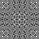 Безшовный/Tileable перекрывая черно-белую картину кругов иллюстрация вектора