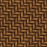 безшовный wicker текстуры Стоковые Фотографии RF