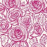 Безшовным картина воодушевленная годом сбора винограда розовая, вектор Стоковое Фото