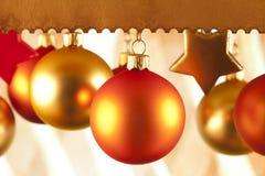 Безделушки и звезды рождества Стоковые Фото