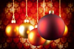 Безделушки рождества на предпосылке картины Стоковое Изображение