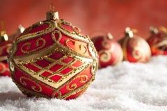 Безделушки рождества орнамента Стоковое фото RF