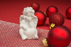 Безделушки рождества с ангелом Стоковая Фотография RF