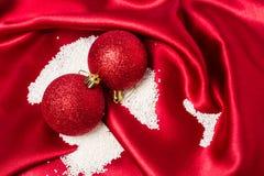 Безделушки рождества украшая с сахаром как снег. Стоковые Изображения RF