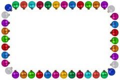 Безделушки шариков рождества много красочное copyspace рамки украшения Стоковые Изображения
