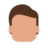 безликая голова значка человека Стоковое Фото