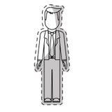 Безликое изображение значка бизнесмена иллюстрация штока