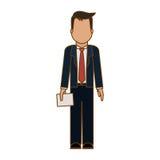 Безликое изображение значка бизнесмена бесплатная иллюстрация