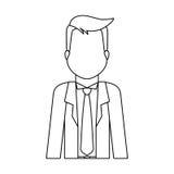 Безликое изображение значка бизнесмена иллюстрация вектора