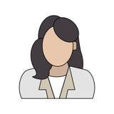 Безликое изображение значка женщины Стоковые Фотографии RF