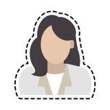 Безликое изображение значка женщины Стоковая Фотография RF