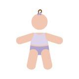 Безликое изображение значка младенца Стоковая Фотография RF
