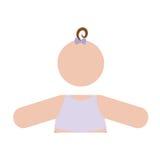 Безликое изображение значка младенца Стоковое фото RF