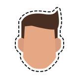 Безликое изображение значка человека Стоковое Фото